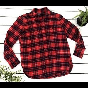 MADEWELL PLAID FLANNEL ✨ Red & Navy